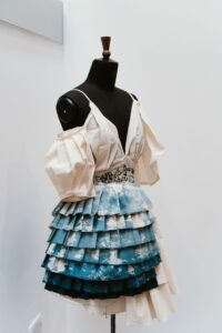 Dress created by a student
